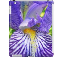 Purple Bearded Iris Monsignor Macro iPad Case/Skin