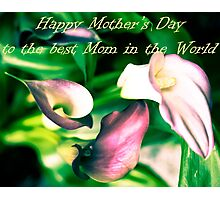 Happy mothers day greeting card Photographic Print