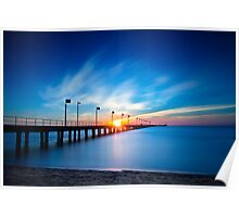 Admiring the colourful sunset behind Frankston Pier 2013 Poster