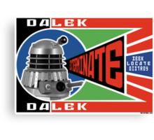 Dalek Deconstructivism Canvas Print