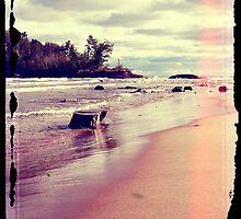 Beach Rocks In The Water by perkinsdesigns