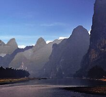 Li River Karsts by phil decocco