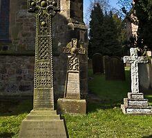 Bedale church -Three crosses by jasminewang