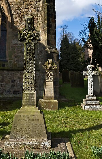 Bedale church -Three crosses by jasminewang