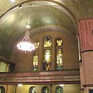 Byzantine interior and stained glass, First Presbyterian, Buffalo by Ray Vaughan