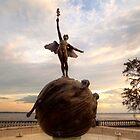 Riverside Memorial Angel Statue by Dani Gee Phokus & [x]Pose