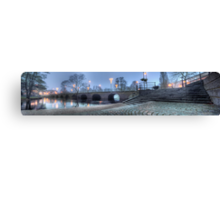 Riksväg 1 - Bridge over Lagan - Värnamo (panorama) Canvas Print