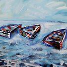 Dinghies Adrift in The Bay by Reynaldo