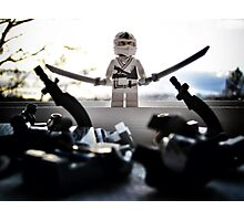 The White Ninja Photographic Print