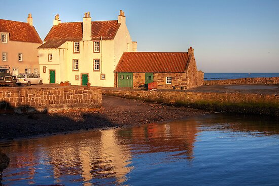 The End of the Day at Pittenweem by Christine Smith
