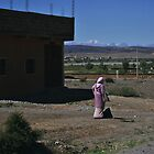 In south of Morroco a woman awaits by Isabela M. Lamuño