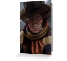 Fourth Doctor - Tom Baker Greeting Card