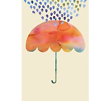 Rainbow Umbrella Photographic Print