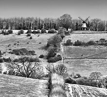 Cobstone Windmill - Turville -  BW by Colin J Williams Photography