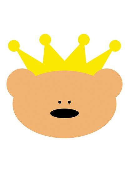 Teddy Bear with royal crown by chrisbears
