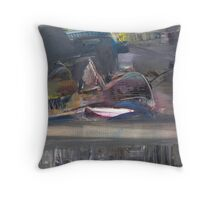 thawed old boat... Throw Pillow