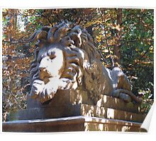 Highgate Cemetery Nero the Lion Poster