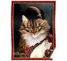 Vintage Highland Cat Poster