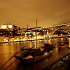 Porto - bridge at night, tilt-shift by thefifthAce