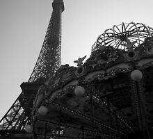 Eiffel Tower & Carousel, Paris by darlingheartxo