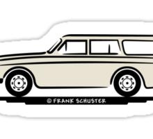 Volvo Amazon White Eerkes' Boyfriend's Mom Sticker