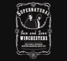 Sam and Dean Winchesters (Jack Daniels label inspired) by koroa
