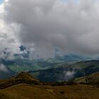 Andes Valley from Atop Cruz Loma by Paul Wolf