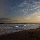 Beach at sunset by Lugburtz