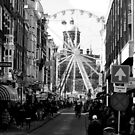 Amsterdam - The Dam Square in the Distance - B&W by rsangsterkelly