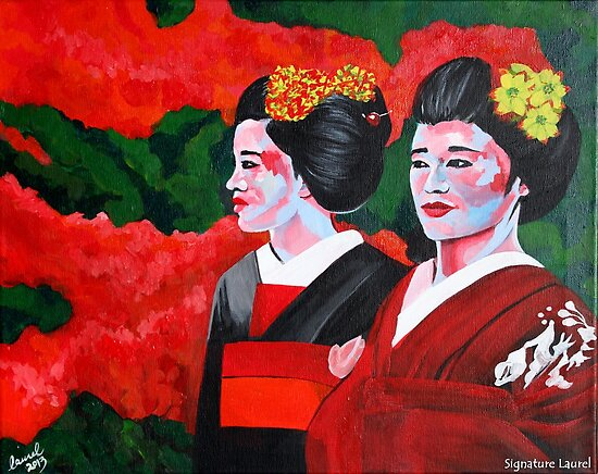Geishas in the Garden by signaturelaurel