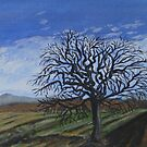 Apple tree by the fallow field in the Winter by billimaus