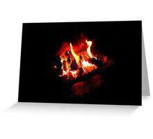 The Irish Turf Fire Greeting Card