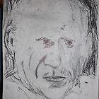 Picasso/copied photo -(110413)- A5 sketchbook/black biro pen  by paulramnora