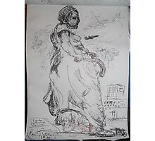 Copied sculpture/Buckingham Palace -(110413)- black biro pen/A5 sketchbook Photographic Print