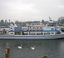 Miss Lakeland a pleasure boat on Lake Windermere UK by Keith Larby