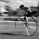 Penny Farthing race blur by fixie