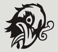 Bioshock Infinite Murder Of Crows Vigor [Black on White] by TitanVex