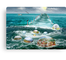 My oases along the way to light  Canvas Print