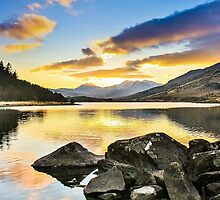 Snowdon From Llynnau Mymbyr, Capel Curig, North Wales 6 by Matthew Floyd