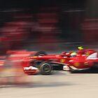 Felipe Massa Pitstop - UBS Chinese F1 Grand Prix by Mark Bolton