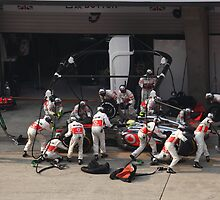 Sergio Perez Pitstop - UBS Chinese F1 Grand Prix by Mark Bolton