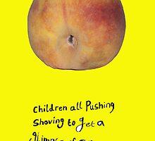 Rolling peach by InkyIllu