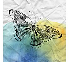 graphic butterfly Photographic Print