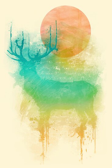 Color Drop - Deer by grizzlyitf