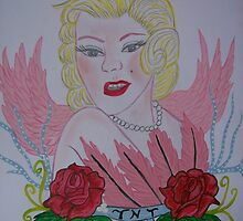 Just an Angel,Marilyn Monroe by Julieann St-Onge