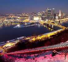 Pittsburgh at Night by Mark Van Scyoc