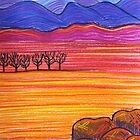 Pastel Art - Rocky Outcrop by Georgie Sharp