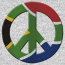Peace sign and South African flag by stuwdamdorp