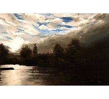 Summer evening over Kingston Upon Thames Photographic Print