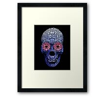 Skull Art - Day Of The Dead 1 Stone Rock'd Art By Sharon Cummings Framed Print